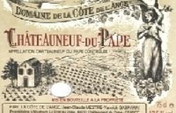 Domaine Cote de L 'Ange etiket 250x160